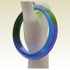 Watery Blue Lucite Bangle