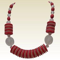 Art Deco Style Celluloid Necklace