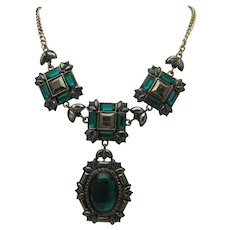 Emerald Rhinestone Necklace