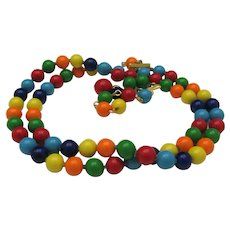 Colorful Mid Century Plastic Necklace