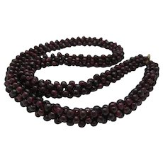 Bohemian Garnet Necklace Gold Catch