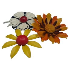 Metal Brooches c1960