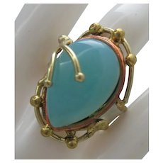 Aqua Chalcedony Ring Artisan