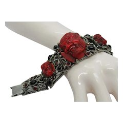Selro Red Noh Mask Bracelet