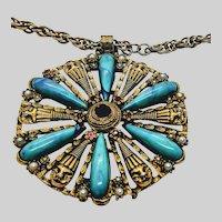 Selro Egyptian Revival Pendant Necklace