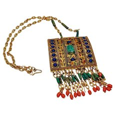 Scarab Egyptian Revival Necklace