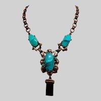 Faux Turquoise Vintage Necklace