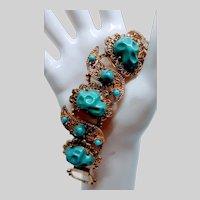 Filigree faux Turquoise Bracelet