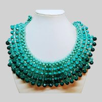 Teal Blue Collar Necklace