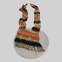 Egyptian Revival  Style Faience Necklace