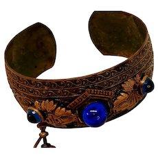 Brass Victorian Bracelet Set