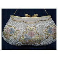 Beaded evening bag Handmade France