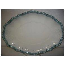 Antique Turkey Platter John Edwards Porcelain