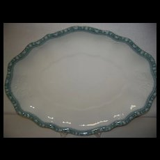 Antique Turkey Platter John Edwards Porcelain