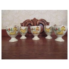 Vintage  hand painted egg cups Japan