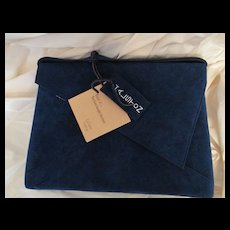 Vintage Hartmann/Halston Suede Laptop, Attache, Briefcase Unused