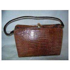 Vintage Genuine Lizard , Snakeskin  Kelly Bag