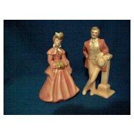 Vintage Florence Ceramics** Elaine & Jim ** Figurines
