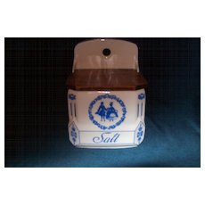 Vintage Porcelain Salt Canister Czech