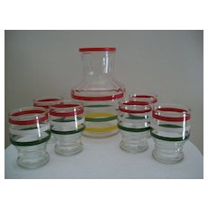 Vintage Glass Juice Set Anchor MIB