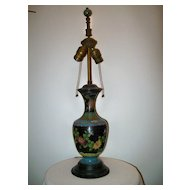 1900's Chinese Cloisonne Lamp & Finial