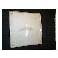 Vintage Embroidered Cotton Handkerchief in Box