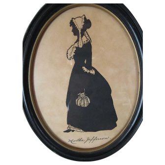 "Vintage Silhouette ""Martha Jefferson"""