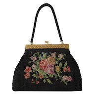 Vintage Petit Point Beaded Handbag