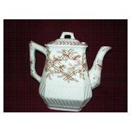 Transfer ware  Teapot  Brown