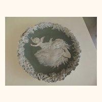Jasperware Cherub and Lady Plaque