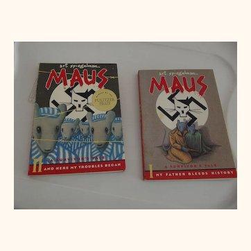 "Set of Two ""Maus""  Art Spiegelman"
