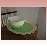 Unusual Green and White Noritake Luncheon Set
