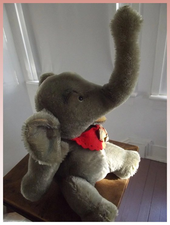 Steiff Jumbo Elephant From Here To Victorian Ruby Lane