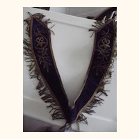 Masonic Ceremonial Mantle or Collar