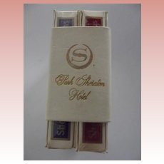 Park Sheraton Hotel Playing Cards