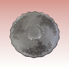 Glass Plate With Silver