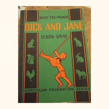 """Rare Soft Cover """"Dick And Jane"""" Book"""
