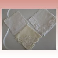Fine Wedding Hankie and Two Others