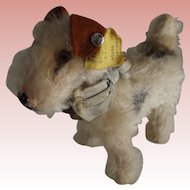 "Steiff Dog  ""Terry"", Button, Tag and Ribbon"
