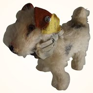 """Steiff Dog  """"Terry"""", Button, Tag and Ribbon"""
