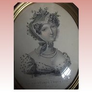 Picture of Napoleonic Era Lady With Pearls and Beading