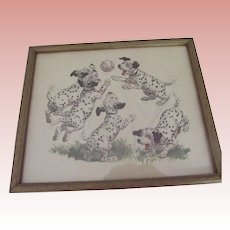Dalmation Puppies Playing Ball