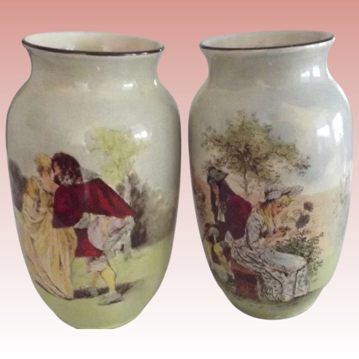 Early Royal Doulton Vases From Here To Victorian Ruby Lane