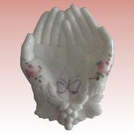 Westmoreland Milkglass Hands
