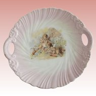 Carlsbad Cake Plate With Cherubs