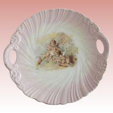 Carlsbad Cake Plate With Cherubs