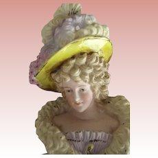 Art Nouveau Vase With  Woman