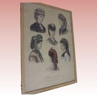 La Mode Illustree Victorian Hats Print