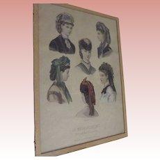 La Mode Illustree Victorian Hats Print