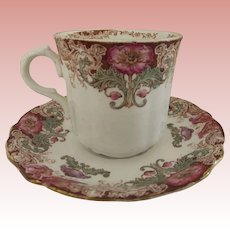 T&R Boote Waterloo Potteries England Cup and Saucer